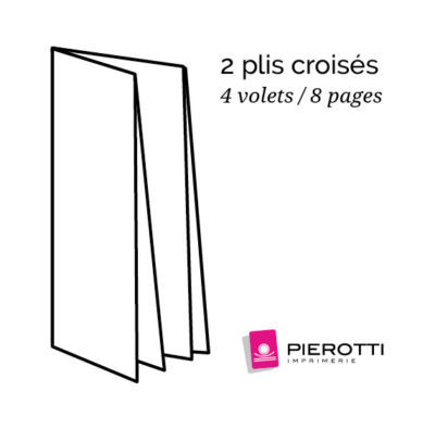 Plis croises 4 volets 8 pages