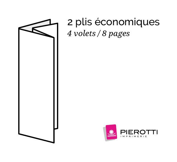 Plis economiques 4 volets 8 pages