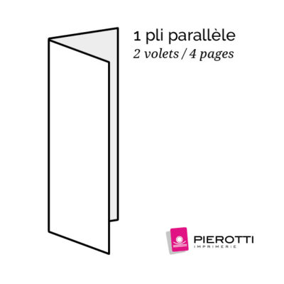 Plis parallele 2 volets 4 pages